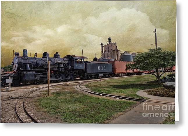 Train - Engine Greeting Card by Liane Wright
