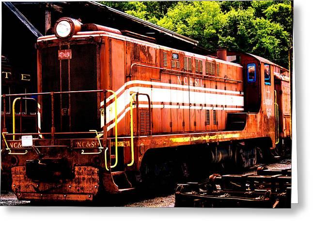 Train Engine Nc Sl  Greeting Card by Mark Moore