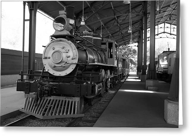 Train Greeting Card by Gandz Photography