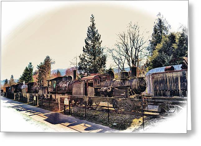 Train Graveyard Greeting Card