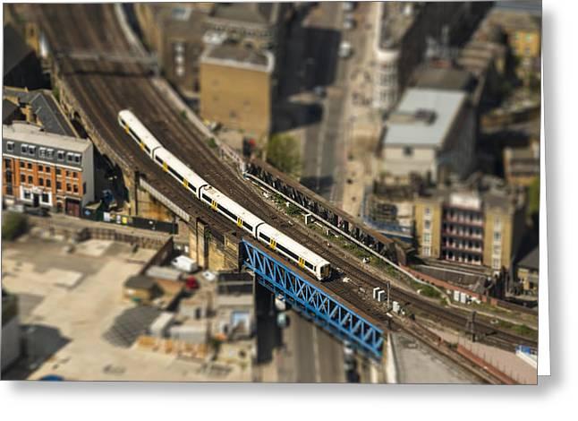 Train In London Greeting Card