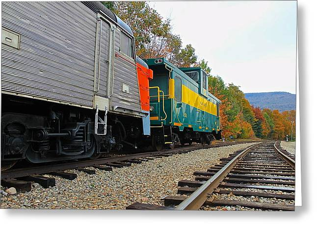 Greeting Card featuring the photograph Train In New Hampshire by Amazing Jules