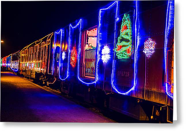 Train Of Lights Greeting Card by Garry Gay