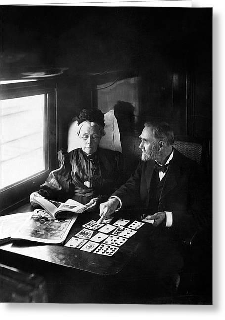 Train Passengers, 1905 Greeting Card