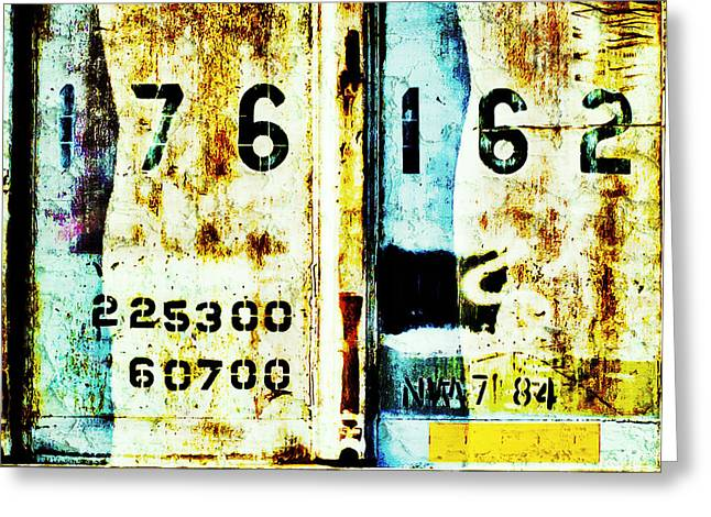 Train Plate 3 Greeting Card by April Lee