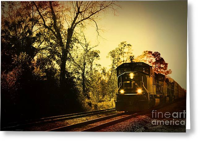 Train Ride Greeting Card by Janice Spivey