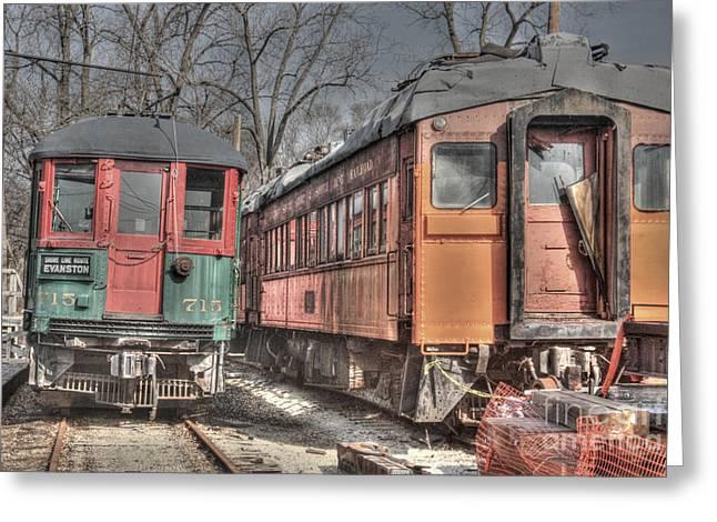 Train Series 4 Greeting Card by David Bearden
