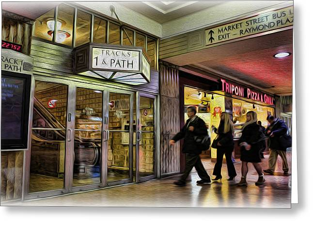Train Station - Going Home II Greeting Card by Lee Dos Santos