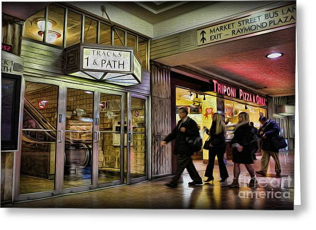 Train Station - Going Home Greeting Card by Lee Dos Santos