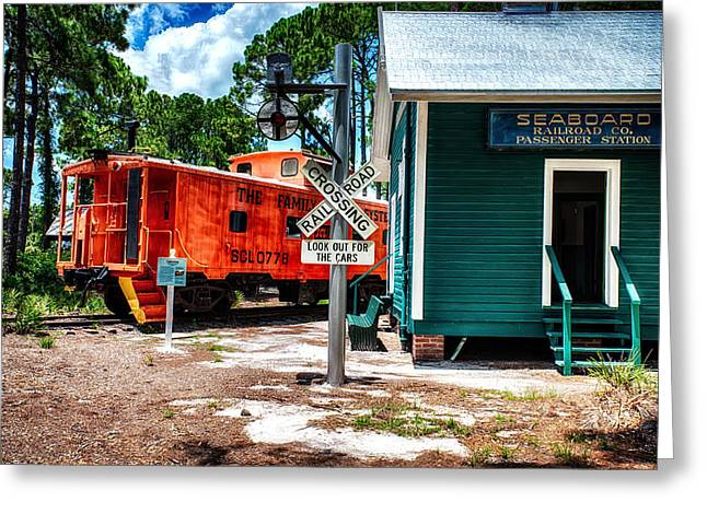 Train Station In Hdr Greeting Card