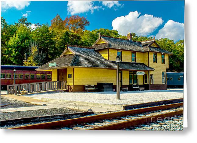 Train Station In Tuckahoe Greeting Card