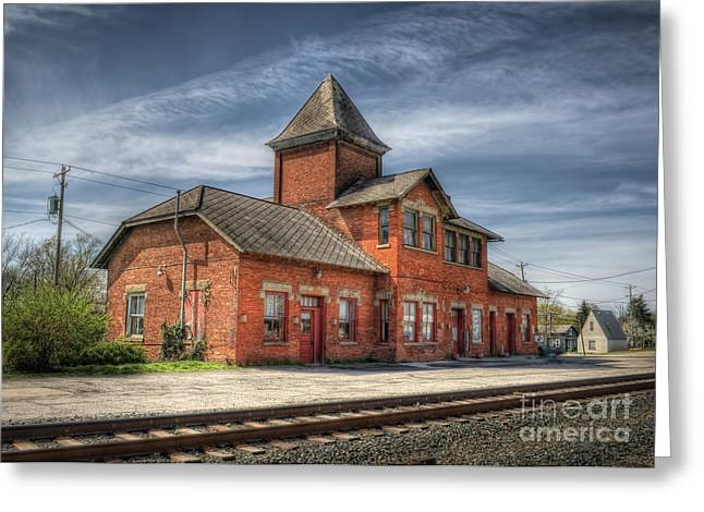 Train Station Of Delaware Ohio Greeting Card by Pamela Baker