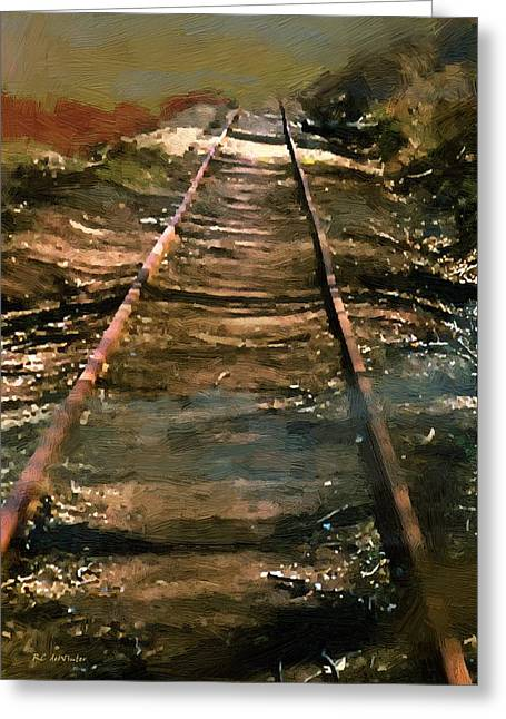 Train Track To Hell Greeting Card