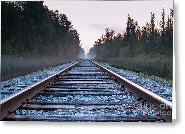 Greeting Card featuring the photograph Train Tracks To Nowhere by Patrick Shupert