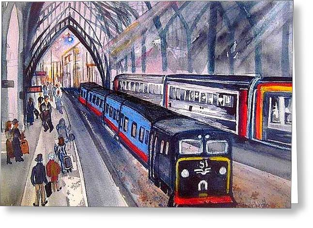 Train Train Train Greeting Card by Esther Woods