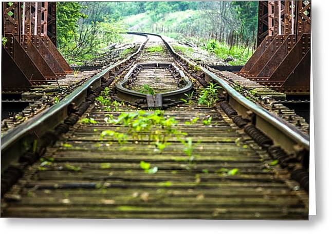 Train Trestle 2 Greeting Card