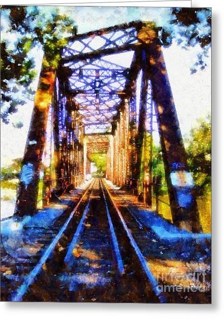 Train Trestle Bridge 2 Greeting Card