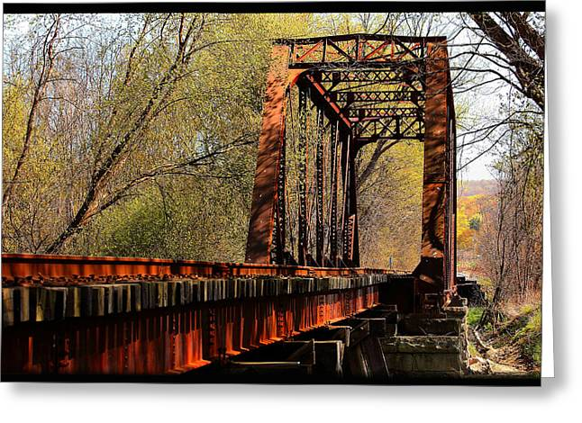 Train Trestle   Greeting Card