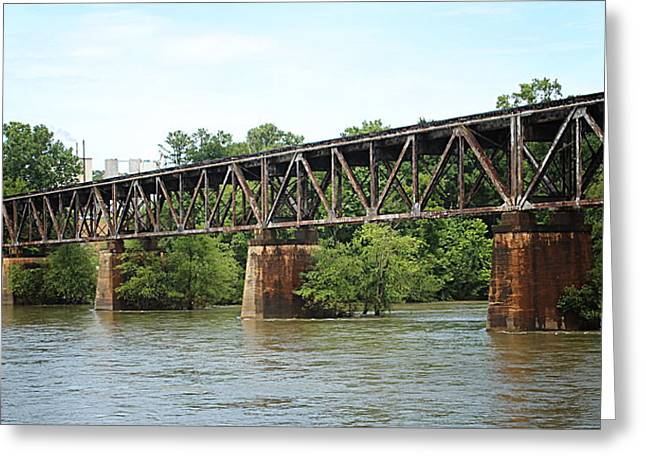 Train Trestle Greeting Card by Greg Simmons
