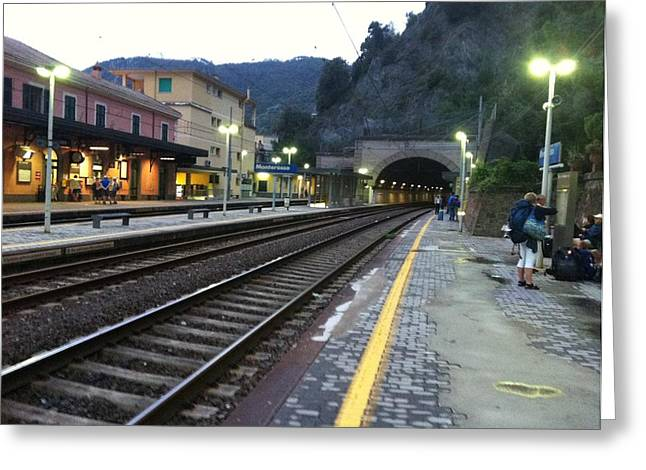 Train Tunnel In Cinque Terre Italy Greeting Card