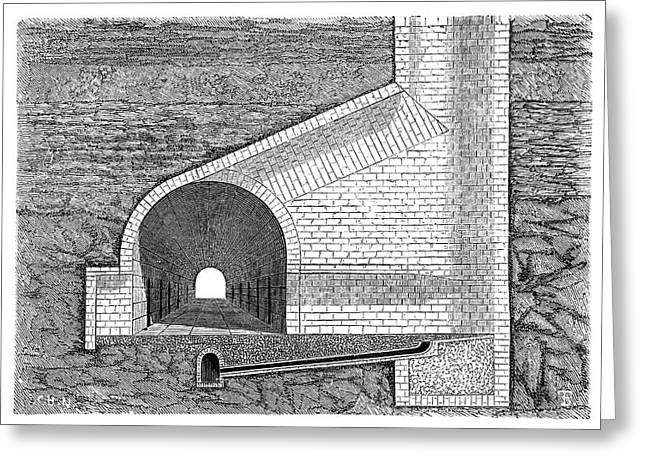 Train Tunnel Greeting Card by Science Photo Library