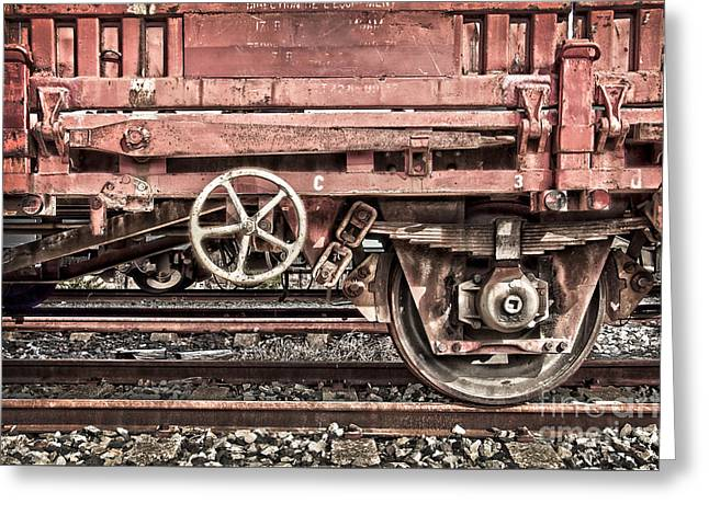 Train Wagon Greeting Card
