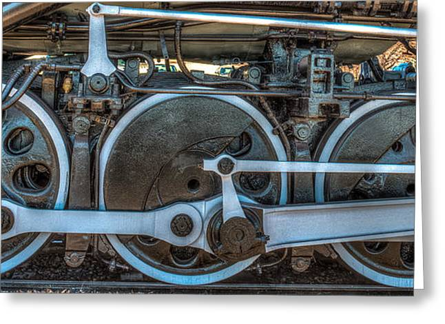 Train Wheels Greeting Card by Paul Freidlund