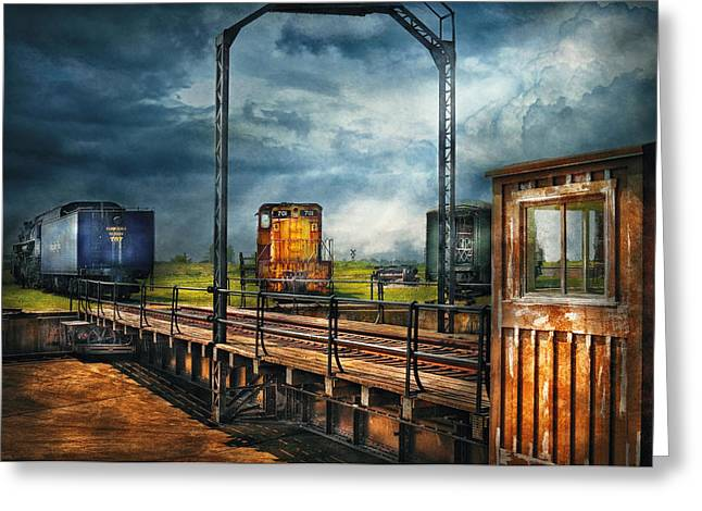 Train - Yard - On The Turntable Greeting Card