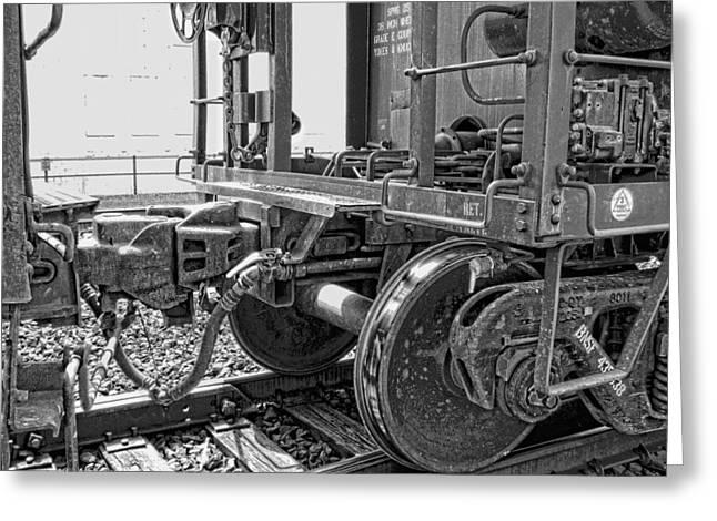 Train Yoke And Knuckle Coupling Greeting Card by Daniel Hagerman
