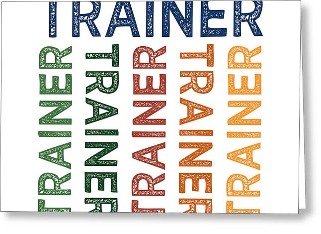 Trainer Cute Colorful Greeting Card
