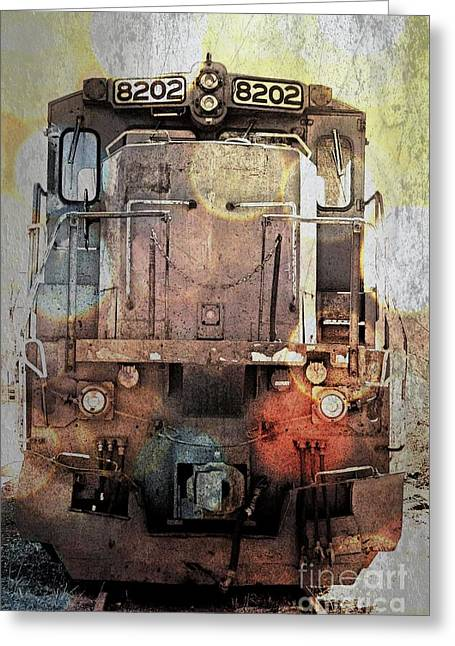 Trains At Rest Greeting Card