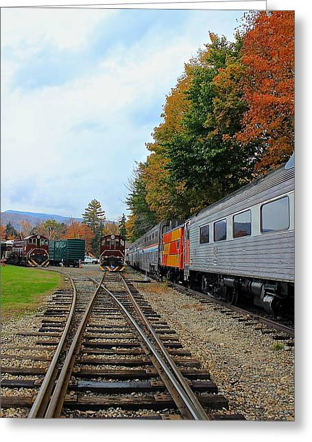 Greeting Card featuring the photograph Trains Of Nh by Amazing Jules