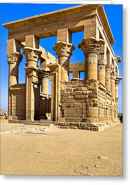Trajan's Kiosk On The Island Of Philae Greeting Card by Mark E Tisdale