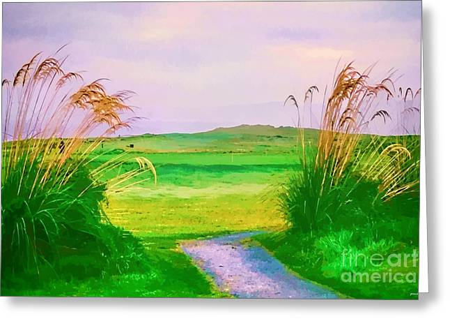 Tralee Ireland Water Color Effect Greeting Card by Tom Prendergast