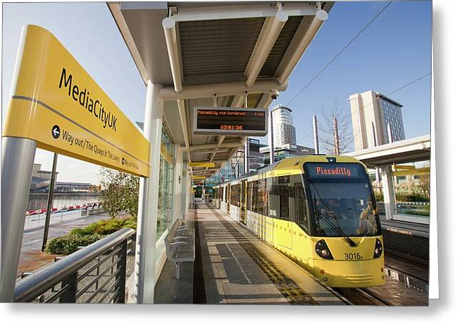 Tram Greeting Card by Ashley Cooper