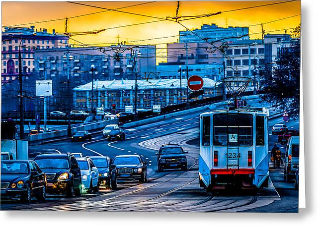 Tramway A Greeting Card by Alexander Senin