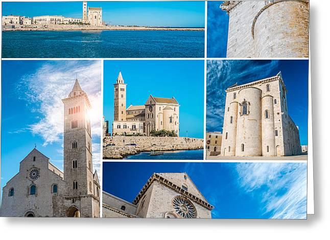 Trani Collage Greeting Card