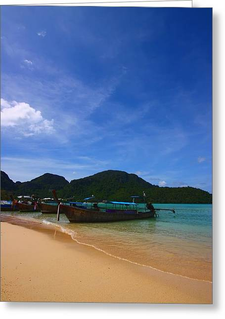 Tranquil Beach Greeting Card