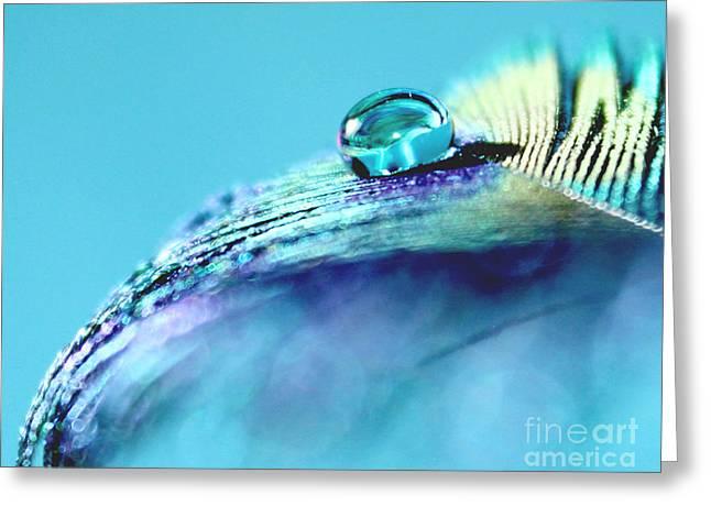 Tranquil Blue Greeting Card by Krissy Katsimbras