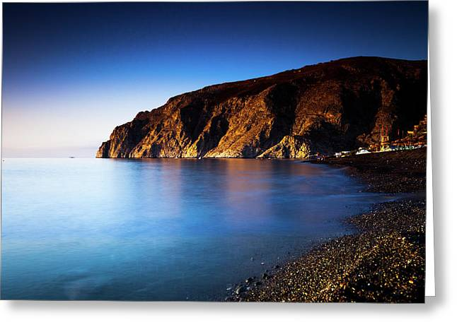 Tranquil Coastline Greeting Card