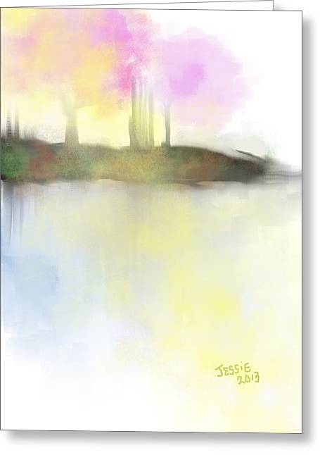 Tranquil Moments Greeting Card by Jessica Wright