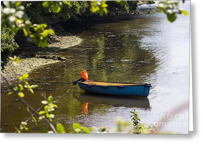 Tranquil Mooring Greeting Card by Brian Roscorla