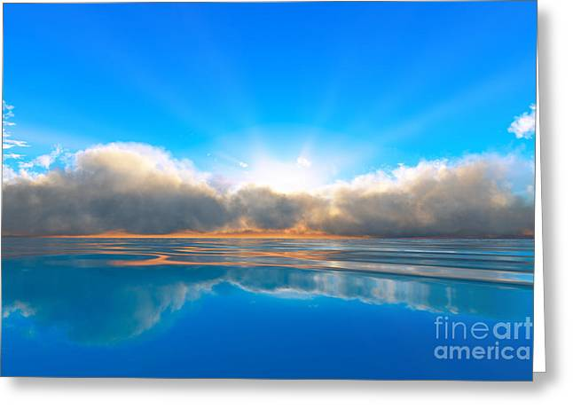 Tranquil Ocean Sunset Greeting Card