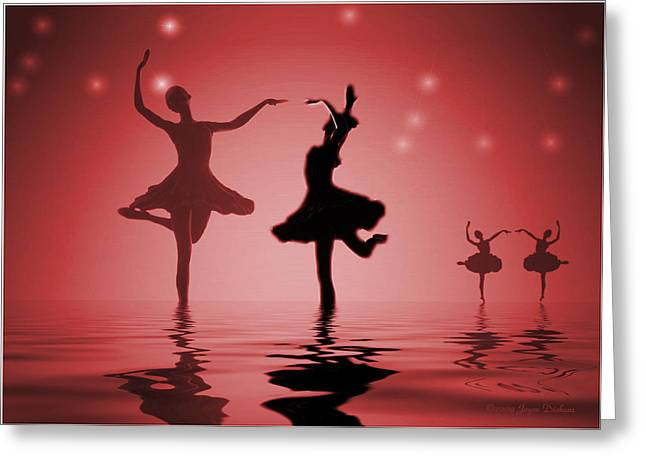 Tranquil Persuasion In Red Greeting Card by Joyce Dickens