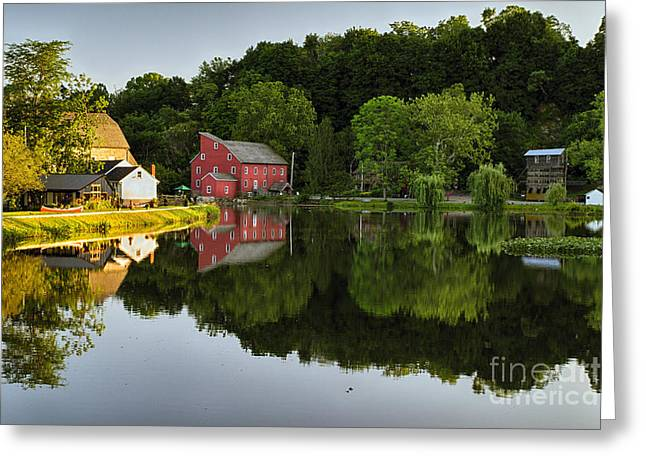 Tranquil River Reflections  Greeting Card by George Oze