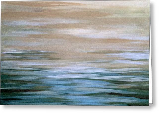 Tranquil Seas Greeting Card by J A Cahill
