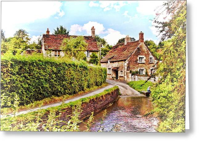 Tranquil Stream Lacock Greeting Card