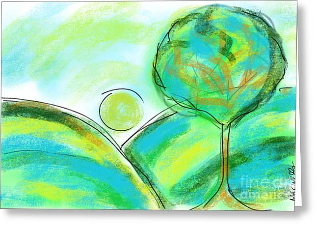 Tranquil Tree No1 Greeting Card by Mary C Wells