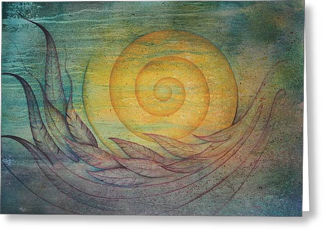 Tranquility Greeting Card by Ellen Starr