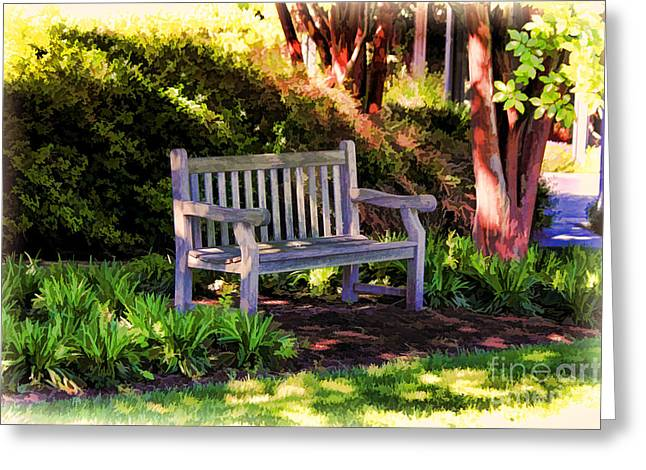 Tranquility In The Park Greeting Card